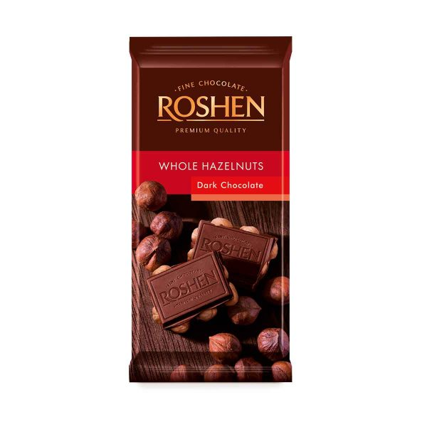 Roshen Dark Whole Hazelnut